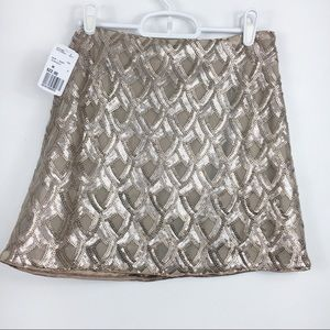 Sequin Gatsby Skirt Mini Metallic Gold Forever21 M